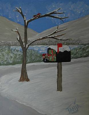 Painting - Christmas Mail by Tanja Beaver