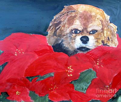 Navidad Painting - Christmas Mollie by Sandy McIntire