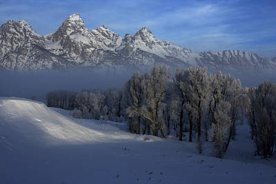 Photograph - Christmas Morning Grand Teton National Park by Benjamin Dahl