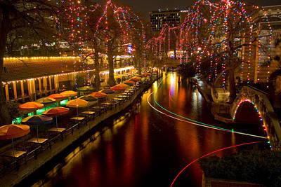 Christmas On The Riverwalk 2 Art Print