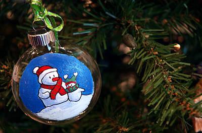 Snow Photograph - Christmas Ornament by LeeAnn McLaneGoetz McLaneGoetzStudioLLCcom