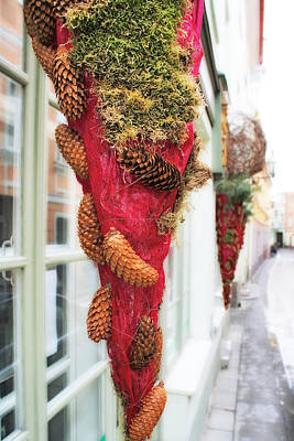 Christmas Ornaments In The Street Art Print by Aleksandr Volkov