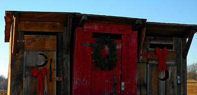 Wreath Photograph - Christmas Out Houses For Sale by LeeAnn McLaneGoetz McLaneGoetzStudioLLCcom