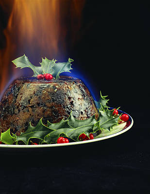 Christmas Pudding Art Print by David Munns