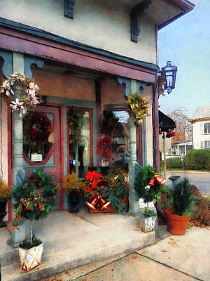Savad Photograph - Christmas Shop by Susan Savad