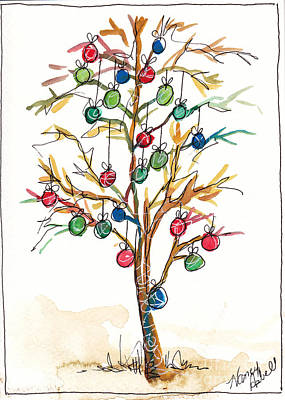 Christmas Spirit Christmas Tree Original by Michele Hollister - for Nancy Asbell