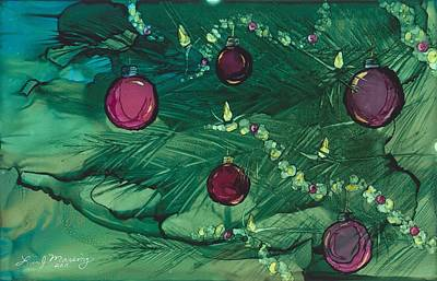 Ink Painting - Christmas Spirit by Lisa  Marsing