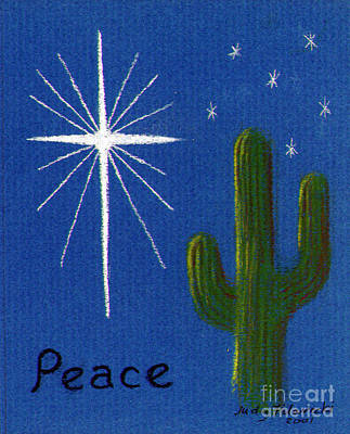 Art Print featuring the painting Christmas Star Greeting Card by Judy Filarecki
