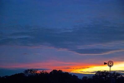 Wimberley Photograph - Christmas Sunset by Robert Anschutz