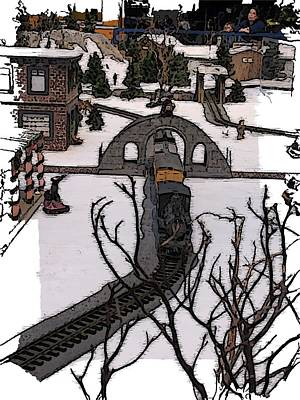 Digital Art - Christmas Train by Tim Allen