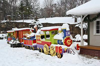Christmas Train Art Print