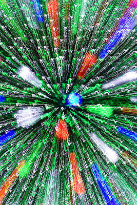 Christmas Tree Abstract-iii Art Print by Dennis Tarnay Jr