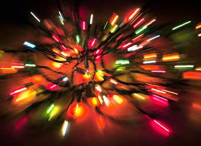 Photograph - Christmas Tree Light Explosion by Glenn Gordon
