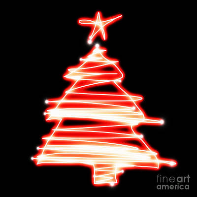 Multicolored Digital Art - Christmas Tree Lighting by Setsiri Silapasuwanchai