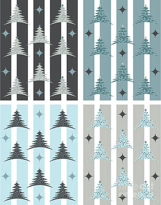 Holiday Photograph - Christmas Tree Patterns by HD Connelly