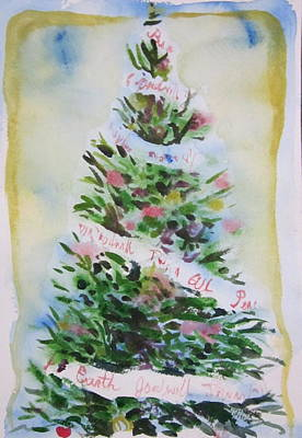 Print featuring the painting Christmas Tree by Tilly Strauss