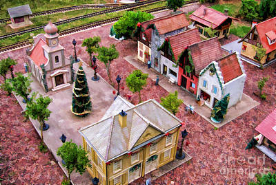 Photograph - Christmas Village by Nora Martinez