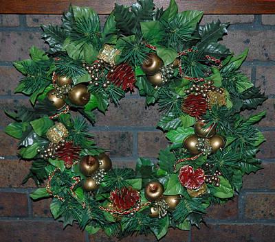 Wreath Photograph - Christmas Wreath by LeeAnn McLaneGoetz McLaneGoetzStudioLLCcom