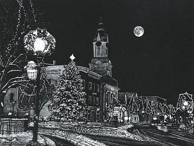 Drawing - Christmastime by Robert Goudreau