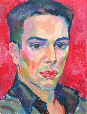 Man Painting - Christophe Bonnet by Leonid Petrushin