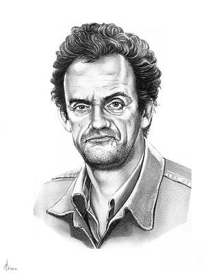 Famous People Drawing - Christopher Lloyd Taxi by Murphy Elliott