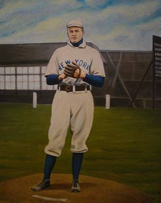 Christy Mathewson Art Print by Mark Haley