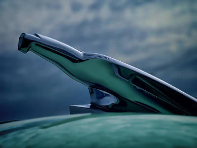 Vintage Hood Ornament Digital Art - Chrome Eagle by Douglas Pittman