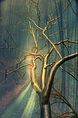 Chrome Forest Print by Marty Koch