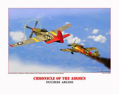 Chronicle Of The Airmen Duchess Arlene Art Print by Jerry Taliaferro