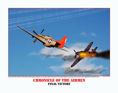 Chronicle Of The Airmen Final Victory Art Print by Jerry Taliaferro