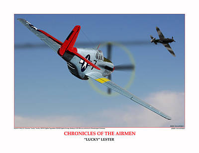 Chronicles Of The Airmen Lucky Lester Art Print by Jerry Taliaferro