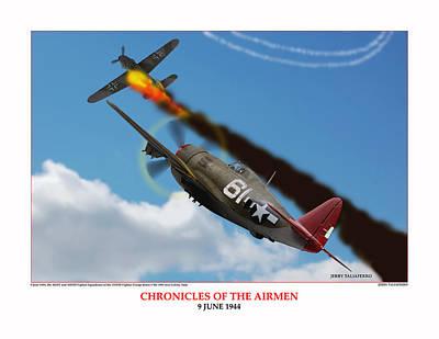 Chronicles Of The Airmen Nine June Art Print by Jerry Taliaferro