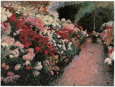 Mums Painting - Chrysanthemums by Dennis Miller Bunker