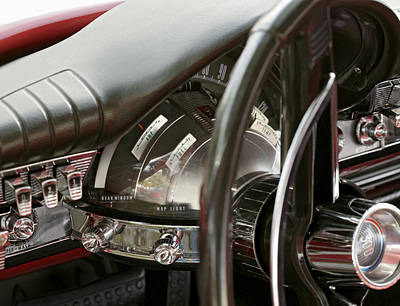 Photograph - Chrysler 300 1962 Dash Board. Miami by Juan Carlos Ferro Duque