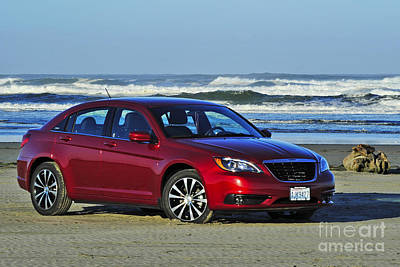 Photograph - Chrysler At Beach by Jack Moskovita