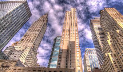 Chrysler Building Digital Art - Chrysler Building Among Friends by Robert Ponzoni