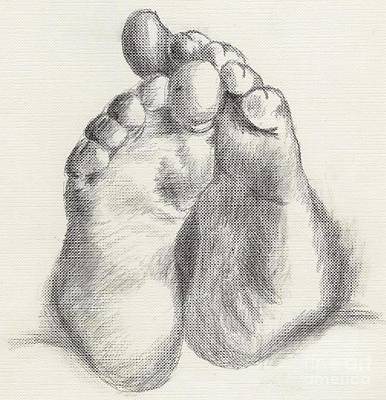 Drawing - Chubby Feet by Annemeet Hasidi- van der Leij