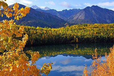 Photograph - Chugach Mountains Reflection by Alan Lenk