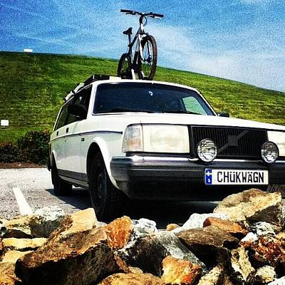 Mtb Photograph - #chukwagn At Newark Reservoir. Ready To by Charles Dowdy