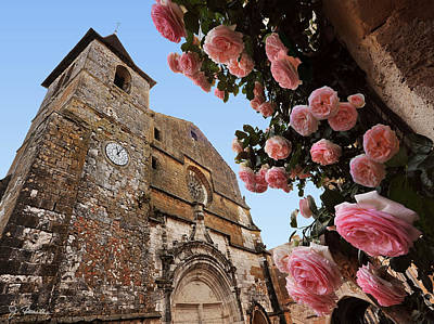 Photograph - Church And Roses by Joe Bonita