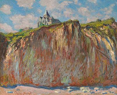Church At Varengeville Morning Effect Art Print by Claude Monet