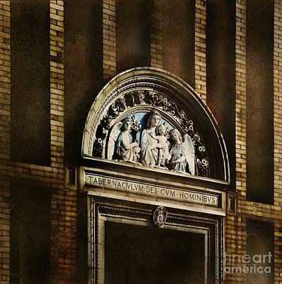 Jesus Photograph - Church Detail by HD Connelly