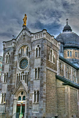 Old Montreal Photograph - Church Hdr by Mike Horvath