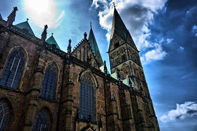 Photograph - Church In Bremen by Edward Myers
