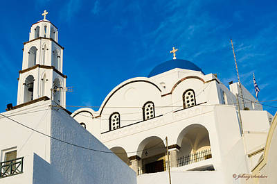 Photograph - Church In Greece by Johnny Sandaire