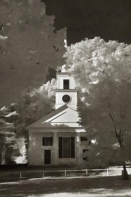 Church In Infrared Art Print by Joann Vitali
