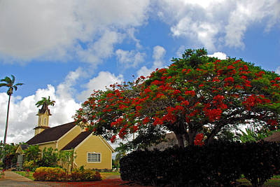 Photograph - Church In Kauai by Lynn Bauer