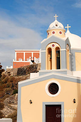 Photograph - Church In Santorini Of Greece by Eva Kaufman