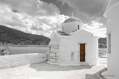 Photograph - Church In Stone With Brown Door by Johnny Sandaire