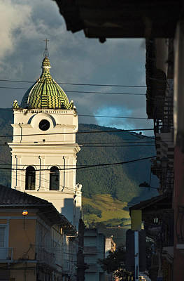 church in the city of Pasto. Republic of Colombia. Art Print by Eric Bauer